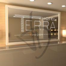 Miroirs avec logo personnalisé