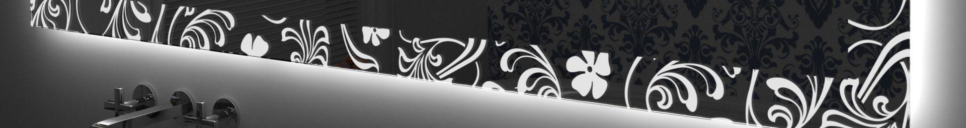 un miroir de rétro-éclairage DEL décorées
