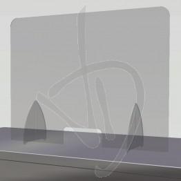 Parafiato in Plexiglass Trasparente su misura, con passacarte
