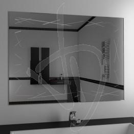 Specchio per bagno, con decoro A037