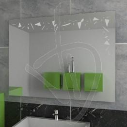 Specchio design, con decoro A027