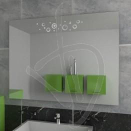 Specchio da bagno, con decoro A028