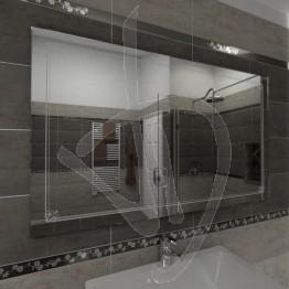 Specchio per bagno, con decoro B008