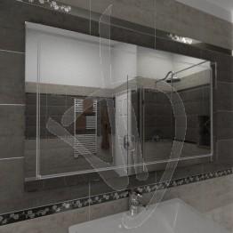 Specchio grande da parete, con decoro B011