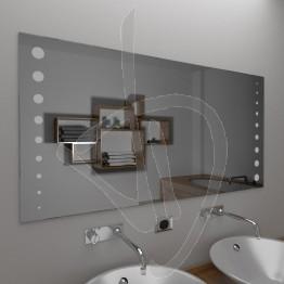 Specchio design, con decoro B016