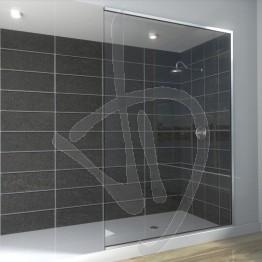 Vetro doccia nicchia, su misura, in vetro trasparente