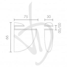 tablette-pour-des-charges-moyennes-des-mesures-75xp66mm-epaisseur-de-verre-de-2-a-20-mm