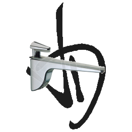 Reggimensola per carichi medi, Misure H66/90xP131 mm, Spessore vetro 3-27 mm