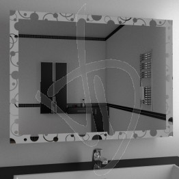 Specchio design, con decoro A030