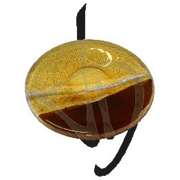 assiette-ronde-en-verre-de-murano-abat-jour-bronze-fait-main