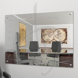 Specchio parete, con borchie e decoro A037