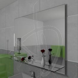 Specchio con mensola (opzionale), su misura