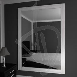Specchio su misura, con cornice in legno massello in rovere naturale, sbiancato