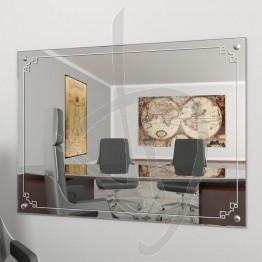 Specchio vintage, con borchie e decoro B013