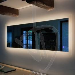 Specchio bagno led, con cornice illuminata, su misura