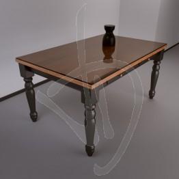Copritavolo in vetro trasparente bronzato, su misura