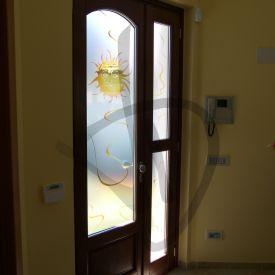 Porte in vetro colorato