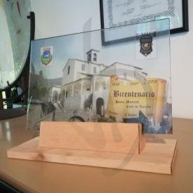 Targa stampata su vetro